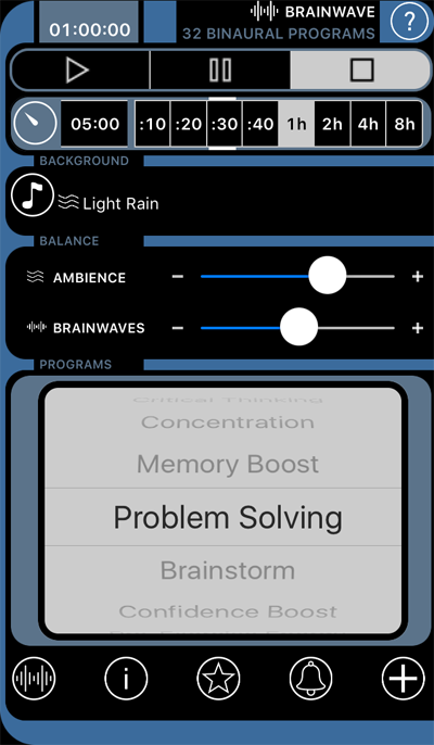 Screenshot fra Brainwave app - Problem Solving