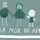 Illustration fra Far Mor og ADHD